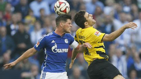 Nhiều khả năng Schalke (trái) và Dortmund sẽ chia điểm