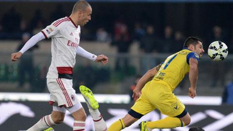 Chievo 0-0 Milan: Thất vọng Rossoneri!