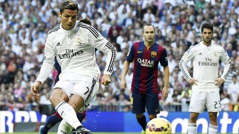 Real được penalty hơn gấp 3 lần Barca, gần gấp đôi Atletico