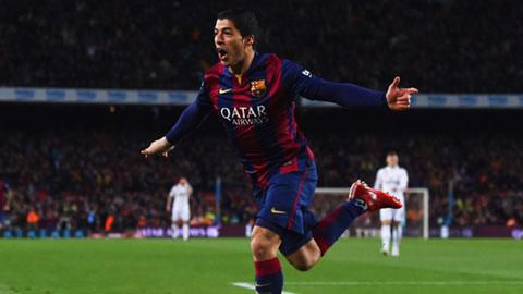 Luis Suarez ghi bàn ấn định chiến thắng 2-1 cho Barca