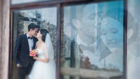 Chú rể Văn Quyết và cô dâu Huyền Mi rạng rỡ trong bộ ảnh cưới