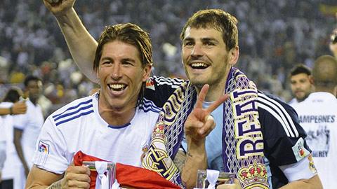 Casillas và Ramos, những cầu thủ Tây Ban Nha còn sót lại ở đội chính Real
