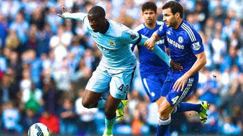 Man City (trái) là đội bóng có nhiều đường chuyền nhất ở Premier League mùa này
