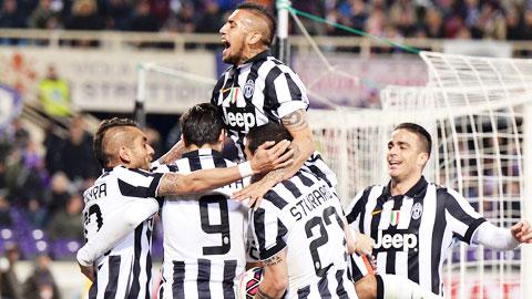 Juventus đang thăng hoa trong cuộc đua giành chức vô địch Coppa Italia, Champions League và Serie A