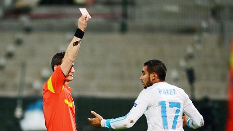 Marseille đã phải nhận đến 5 thẻ đỏ từ đầu mùa