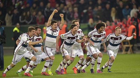Niềm vui của các cầu thủ Bayern