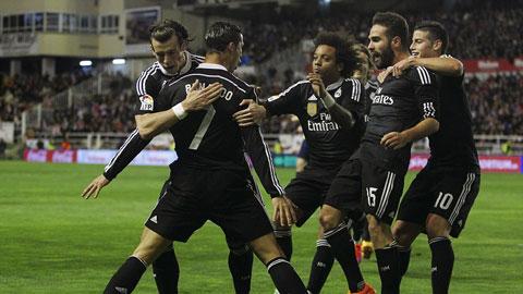Phải khá vất vả Real mới đánh bại được Rayo Vallecano