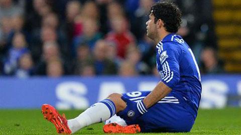 Diego Costa vắng mặt tới cuối tháng 4