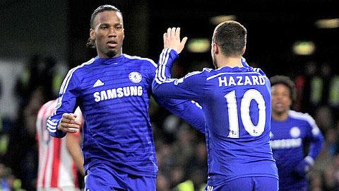 Chelsea đang băng băng tiến về đích
