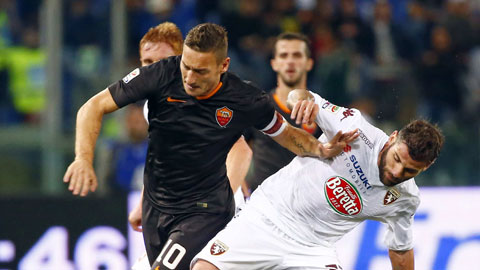 Lịch sử đối đầu đang ủng hộ Roma (áo sẫm) đánh bại Torino