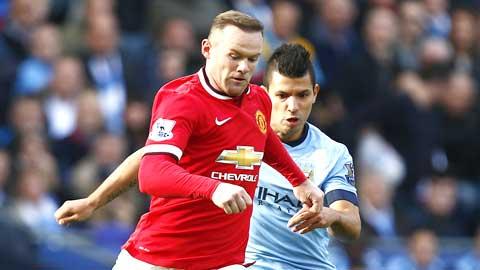 Khác với Aguero, Rooney (trái) luôn sẵn lòng hy sinh vì chiến thắng của đội bóng