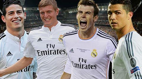James, Bale và Kroos tái xuất để sát cánh cùng Ronaldo