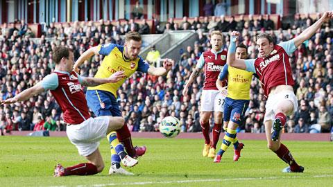 Cú sút thành bàn của Ramsey trong trận đấu thứ 150 ở Premier League