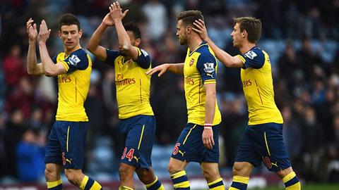 Arsenal đang xếp thứ 2 trên BXH Premier League