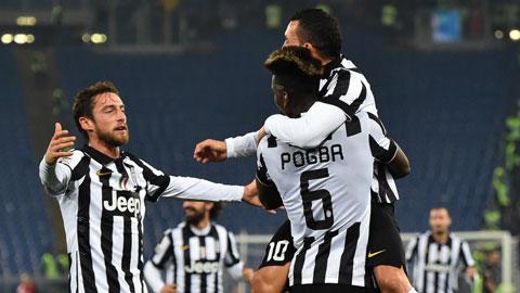 Trước Monaco, Marchisio (bìa trái) đủ khả năng lấp vào khoảng trống mà Pogba để lại