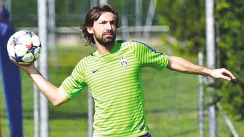 Pirlo có thể ra sân là tin rất vui cho Juve