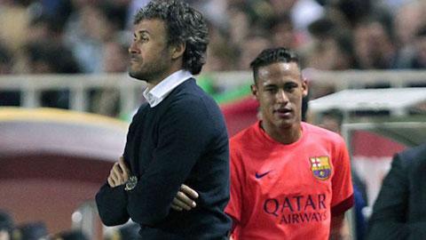 Neymar và Enrique đã manh nha mâu thuẫn