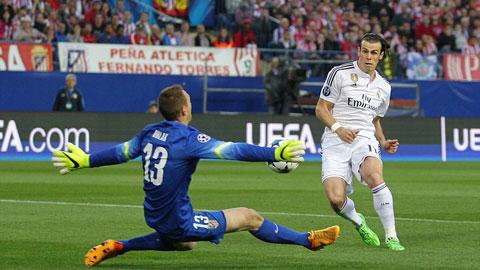 Oblak chiến thắng Bale trong tình huống đối mặt