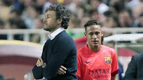 Luis Enrique nhận được sự ủng hộ của chóp bu Barca trong vụ mâu thuẫn với Neymar