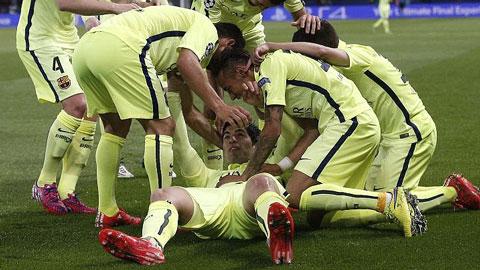 Suarez góp công lớn vào chiến thắng ấn tượng của Barca