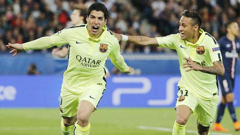Neymar và Suarez giúp Barca đỡ phụ thuộc vào Messi