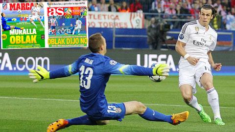 Marca và AS, 2 tờ báo thân Real đều dùng hình ảnh bất lực của B-B-C làm trang nhất