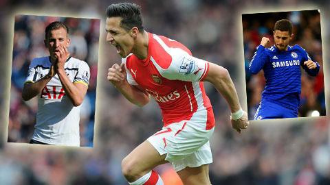 Kane, Sanchez và Hazard là 3 ứng viên nặng ký nhất