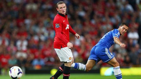 Nếu tỏa sáng trước M.U đêm nay, Hazard (phải) sẽ càng tiến gần hơn tới danh hiệu Cầu thủ xuất sắc nhất Premier League