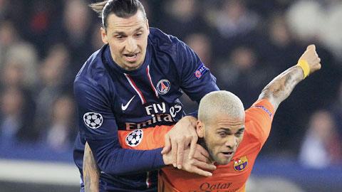 Với sự trở lại của Ibrahimovic (áo sẫm), PSG hy vọng sẽ có màn trình diễn tốt hơn trước Barca