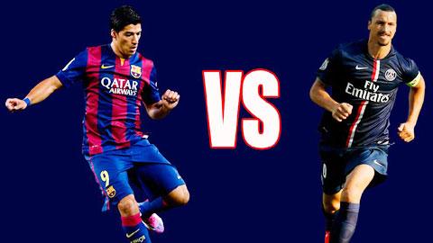 Suarez và Ibrahimovic là những cái tên rất đáng chú ý đêm nay