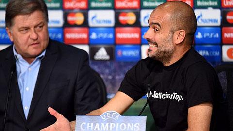 HLV Guardiola đang lên dây cót tinh thần cho các học trò trước trận tái đấu với Porto