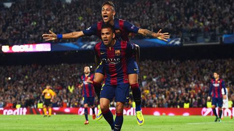 Neymar tỏa sáng với cú đúp