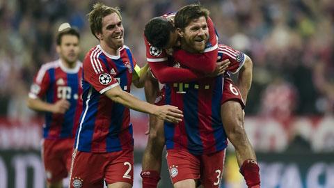 Bayern Munich có chiến thắng tưng bừng