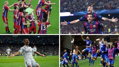 Bayern, Juve, Barca và Real đã giành vé vào bán kết