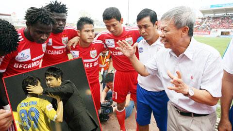 Đã có những đồn đoán rằng HLV Nguyễn Hữu Thắng (ảnh nhỏ) sẽ thay ông Hải nắm B.BD