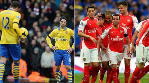 Arsenal đang có được số điểm ít hơn cùng kỳ năm ngoái
