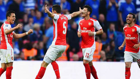 Arsenal đang có phong độ cao khi giành tới 9 chiến thắng liên tiếp