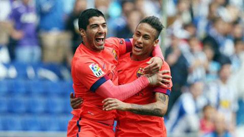 Suarez không ghi bàn nhưng góp công lớn vào chiến thắng của Barca