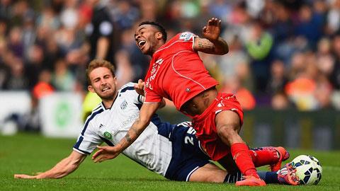 Liverpool bị West Brom cầm hòa
