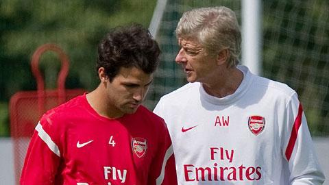 Fabregas từng là học trò cưng của HLV Wenger ở Arsenal