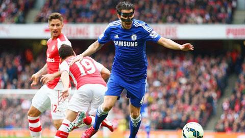 Fabregas đã thi đấu rất tự tin khi đối mặt với đội bóng cũ