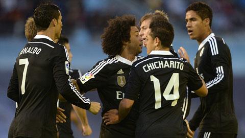 Niềm vui chiến thắng của cầu thủ Real