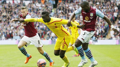 Các tiền đạo Liverpool như Balotelli (giữa) tiếp tục vô hại