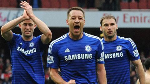 Hàng thủ Chelsea chơi rất kín kẽ dưới sự chỉ huy của thủ quân Terry