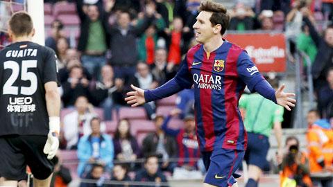 Messi ghi bàn mở tỉ số, mở ra chiến thắng tưng bừng cho Barca