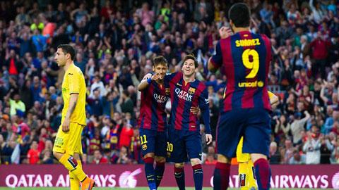 Messi, Neymar và Suarez đều ghi bàn trong trận đấu với Getafe