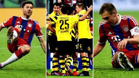 Alonso và Lahm là hai trong số 4 cầu thủ Bayern sút hỏng ở loạt luân lưu