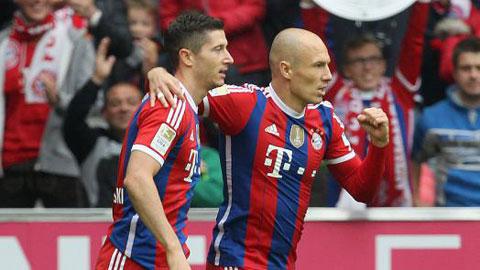 Lewandowski và Robben phải nghỉ thi đấu vì chấn thương khác nhau