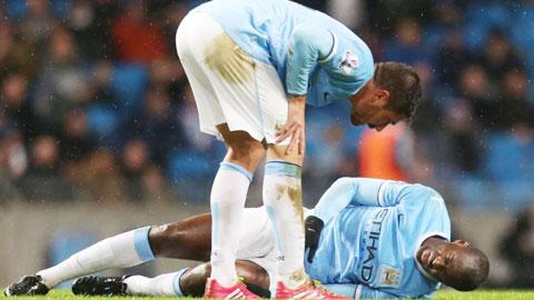 Toure dính chấn thương gân khoeo trong trận gặp Aston Villa cuối tuần trước