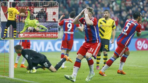 Một lần nữa, Bayern lại gục ngã trên chấm luân lưu ngay tại Allianz Arena